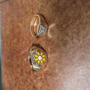 Super Cute Y2K Inspired Flower and Butterfly Rings